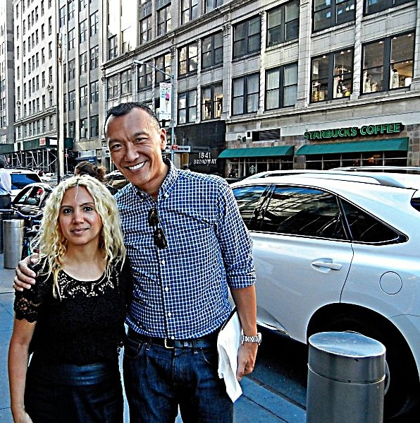 Joe Zee (Editor-in-Chief: Elle Magazine) with Jesenia, JGB Editor