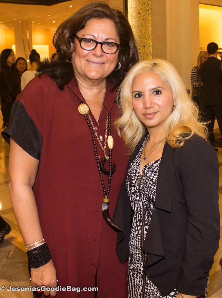 Fern Mallis (Int'l Design Consultant) with Jesenia, (JGB Editor)