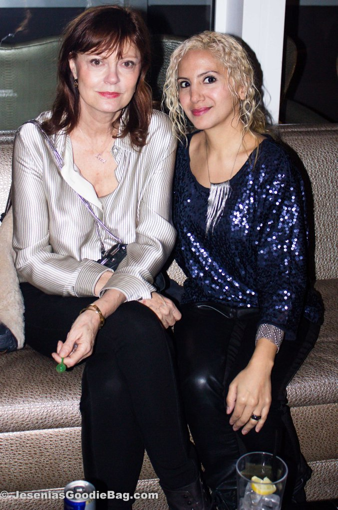 Susan Sarandon (Actress) with Jesenia (JGB Editor)