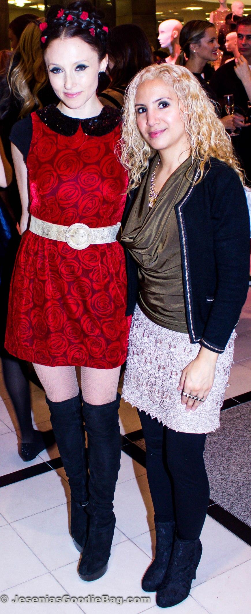 Stacey Bendet (Alice + Olivia Designer) with Jesenia (JGB Editor)