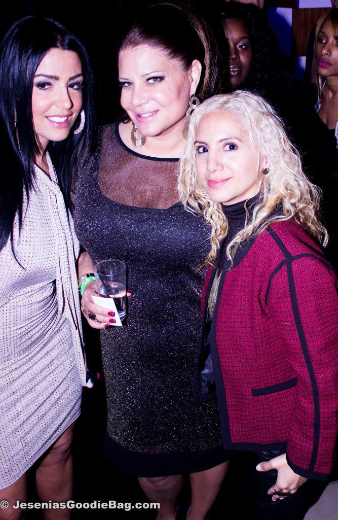 Ramona Rizzo, Karen Gravano (Mob Wives) with Jesenia (JGB Editor)