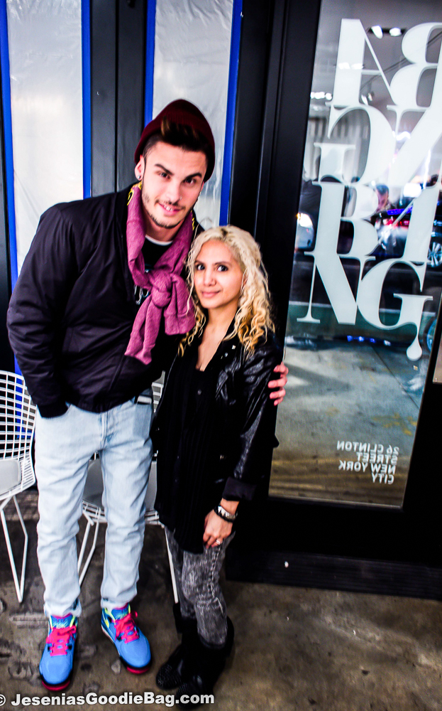 Jesenia (JGB Editor) with Baptiste Giabiconi (Chanel muse)