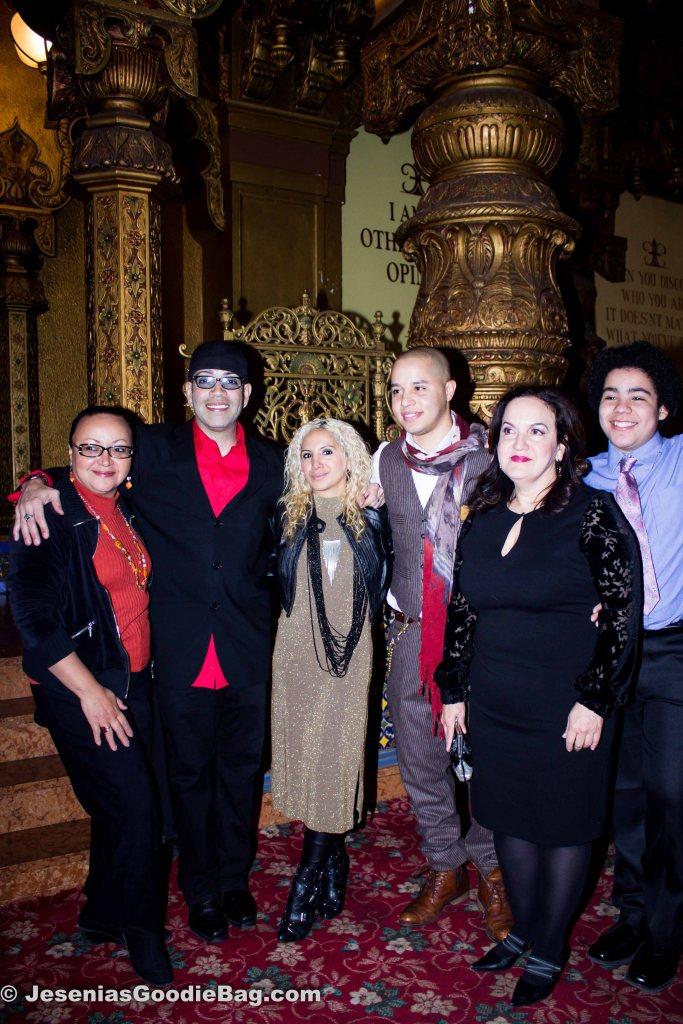 Urban Latino Magazine rep, Luis Antonio Ramos, Jesenia (JGB Editor), John Rafael Peralta, Olga Merediz, Antonio Ortiz.