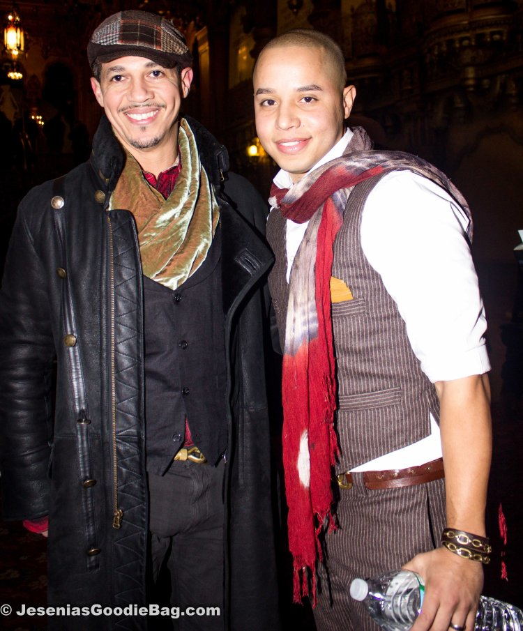 John Rafael Peralta with his stylist.
