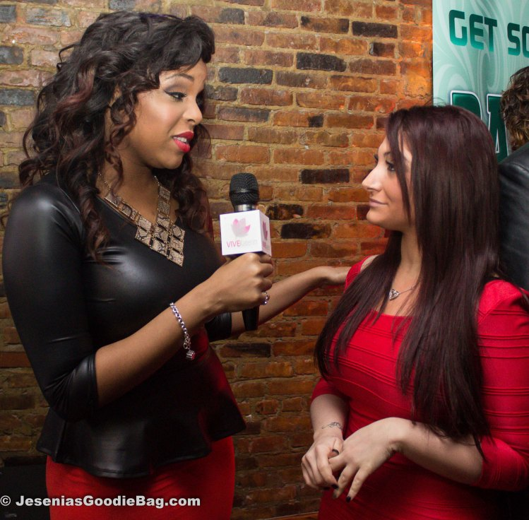 Reporter with Deena (Jersey Shore)