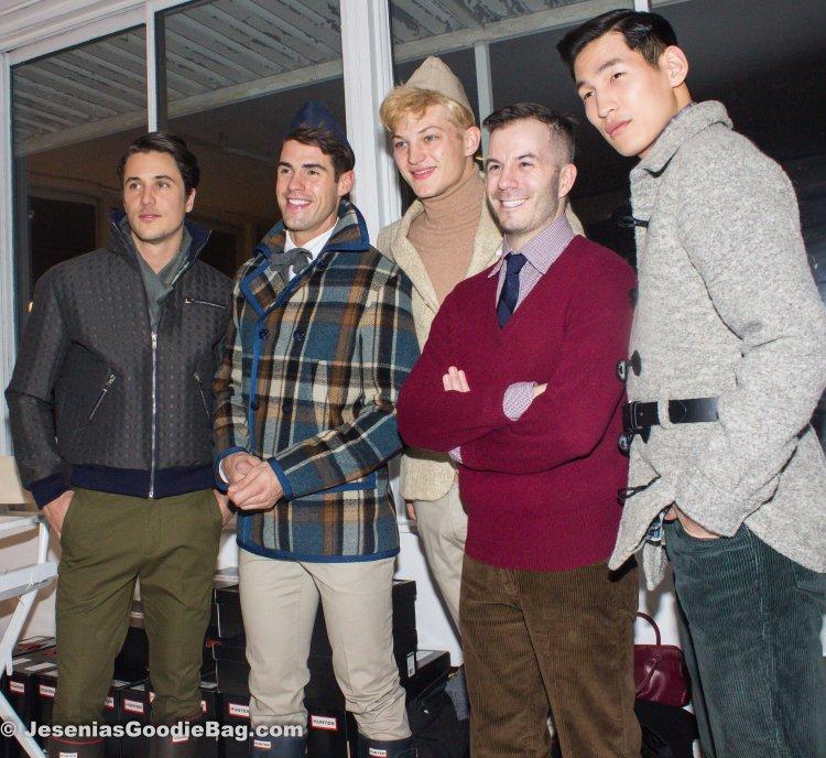 Backstage (Models: Jeremy Santucci, Chad White, Sebastian Suave, Marlon Gobel [Designer], Jae Yoo)