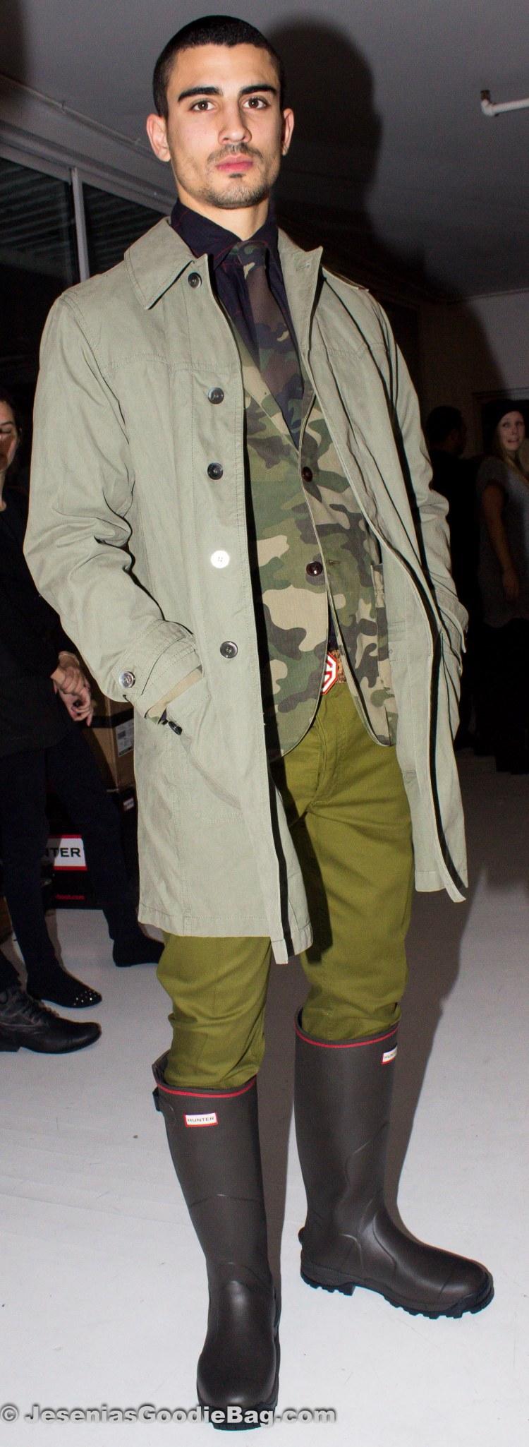 Backstage (Model: Eduardo Oliver)