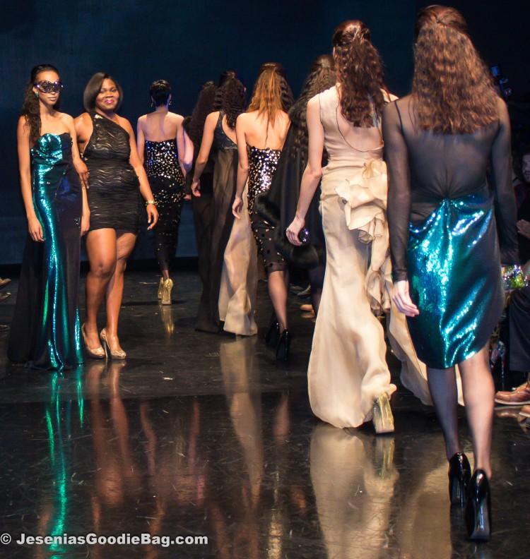 Sherita Jennings (Designer: Viscera NY) with models