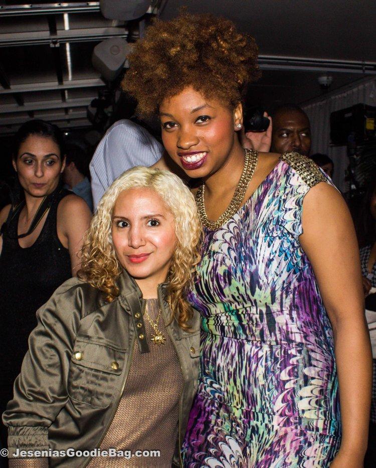 Jesenia (JGB Editor) with Jessica Martin (Designer: Nippy Lavern Fashions)