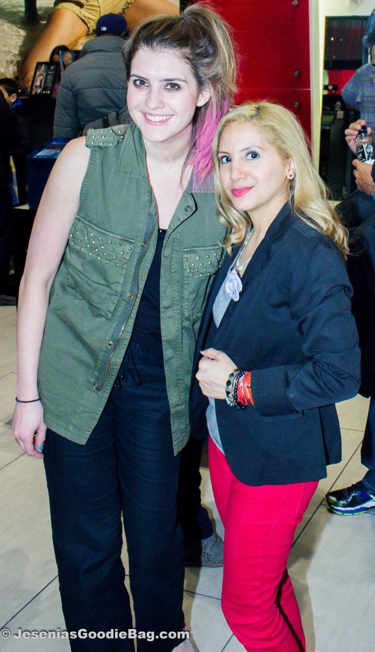 Laura Ellner (On The Racks Editor) with Jesenia (JGB Editor)