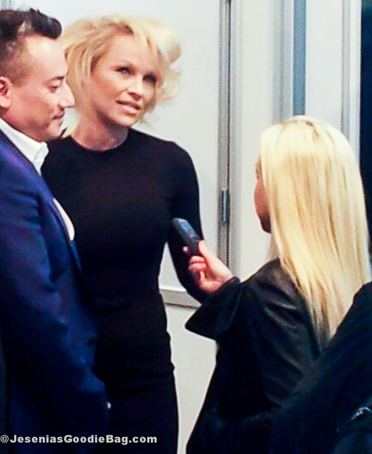 Pamela Anderson with John Blaine for Obliphica Professional