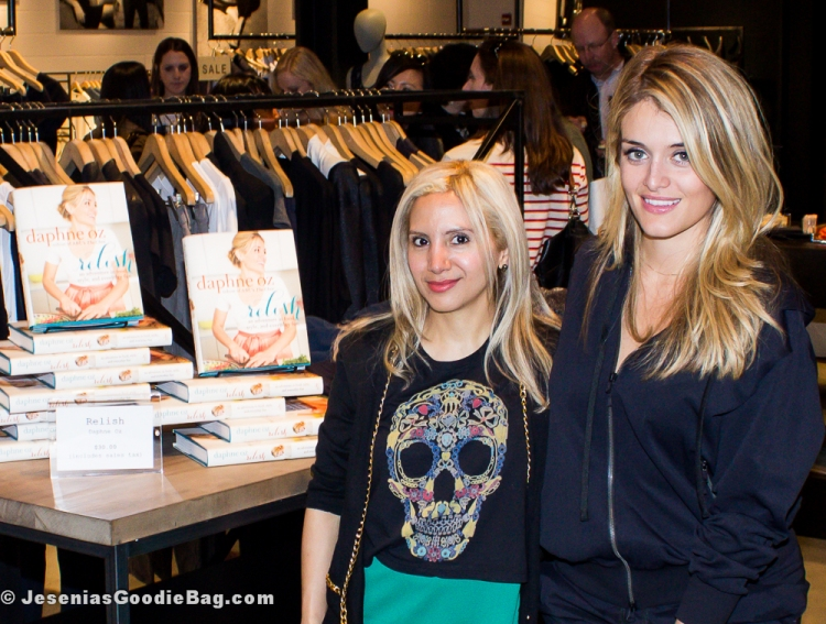 Jesenia (JGB Editor) with Daphne Oz (The Chew, & Relish author)