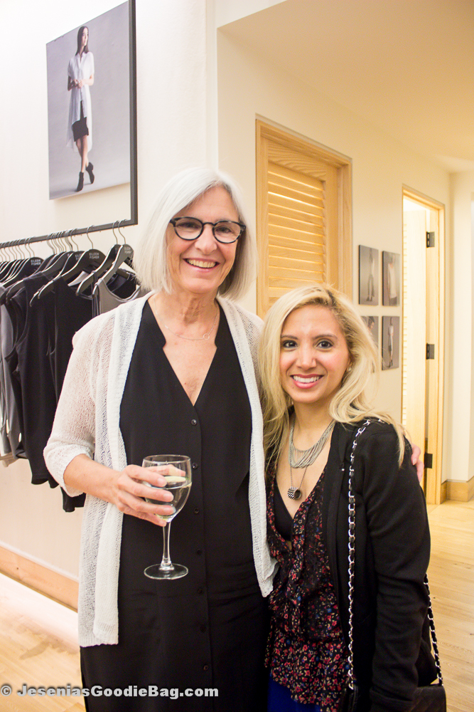 Eileen Fisher (Designer) with Jesenia (JGB Editor)