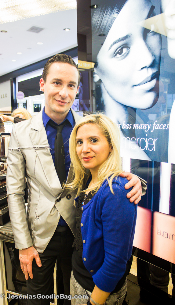 Michel Coulombe (Laura Mercier) with Jesenia (JGB Editor)