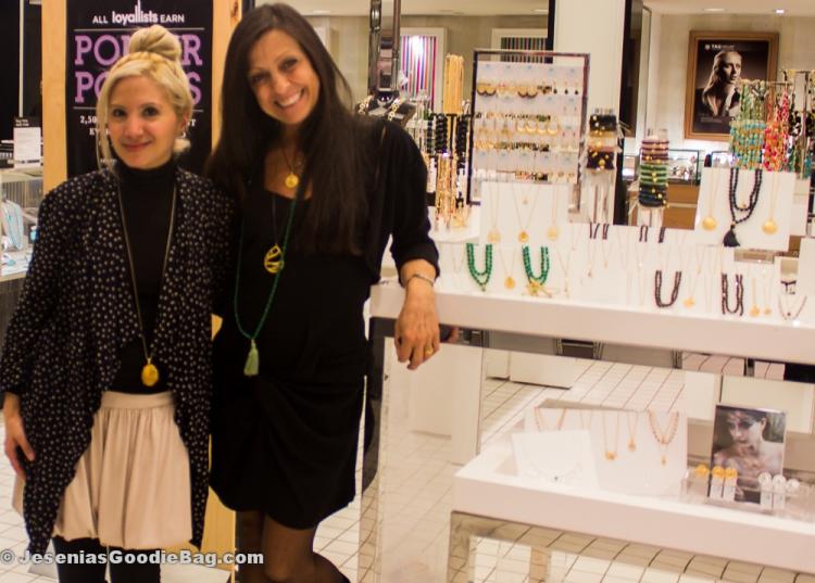 Jesenia (JGB Editor) with Satya Scainetti (Satya Jewelry)