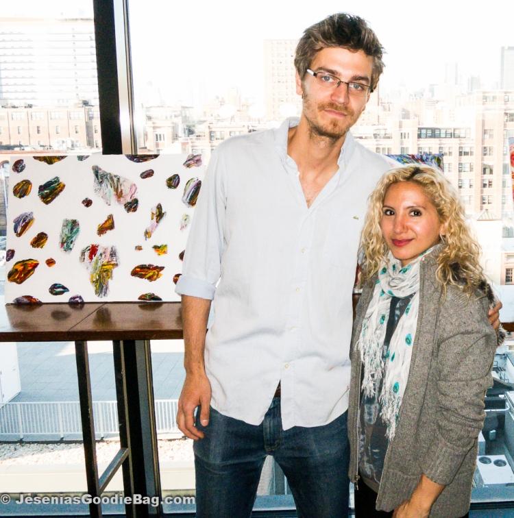 Julian Rapp (Artist) with Jesenia (JGB Editor)