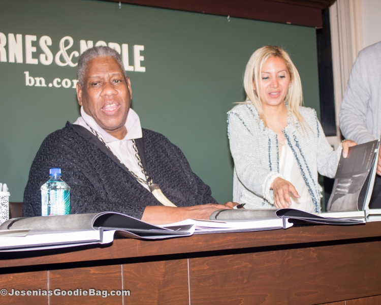 Andre Leon Talley with Jesenia (JGB Editor)