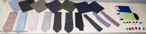 Ties, pocket scarves (Ernest Alexander) Shoe laces (Hook + ALBERT)