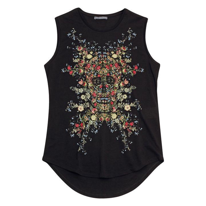 Floral Skull Rock Vest (ALEXANDER MCQUEEN: Autumn/Winter)
