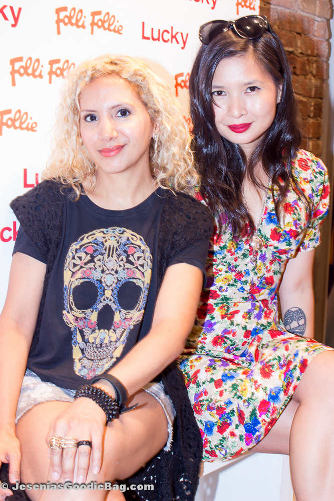 Jesenia (JGB Editor) with Melissa Lum (Lucky Magazine)
