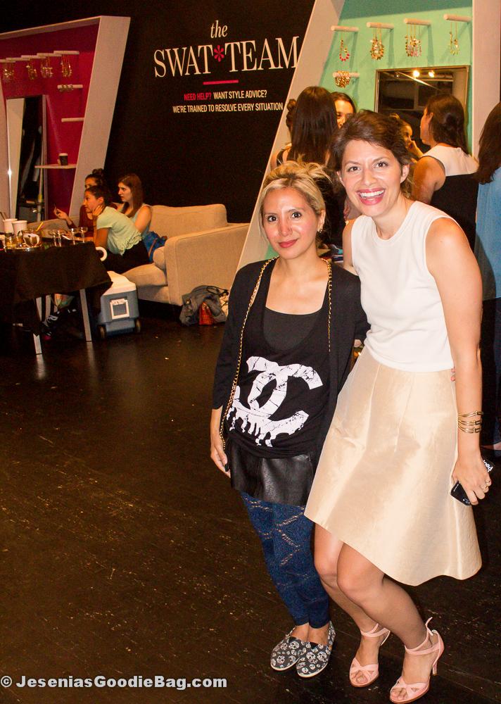 Jesenia (JGB Editor) with Laurel Pinson (StyleCaster)