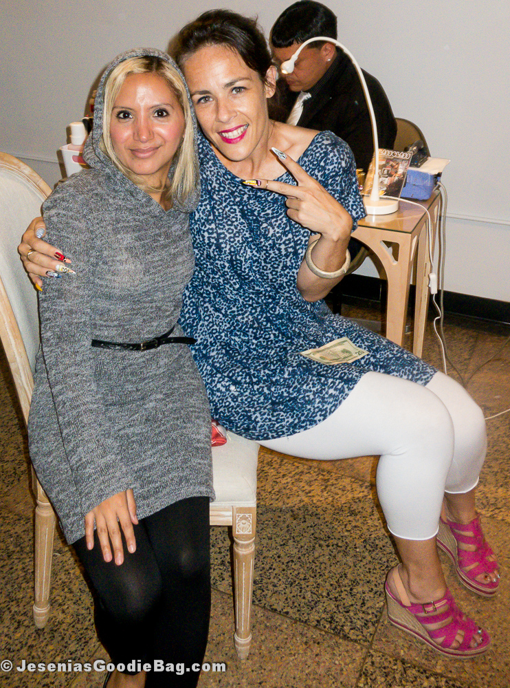 Jesenia (JGB Editor) with Rita de Alencar Pinto (Vanity Projects)