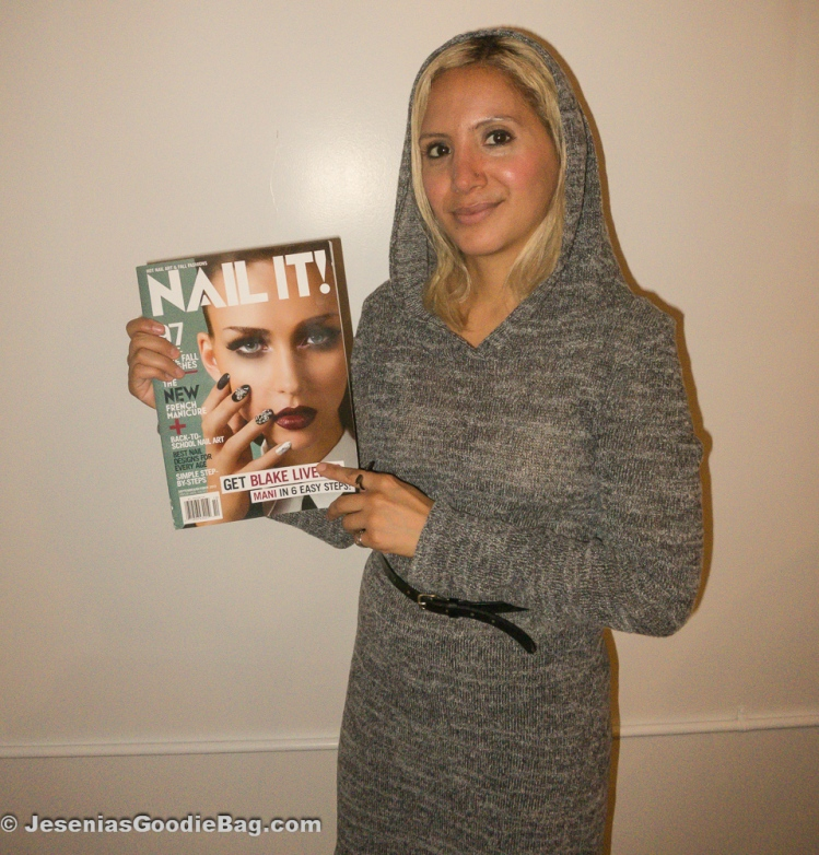 Jesenia (JGB Editor) holding NAIL IT! Magazine