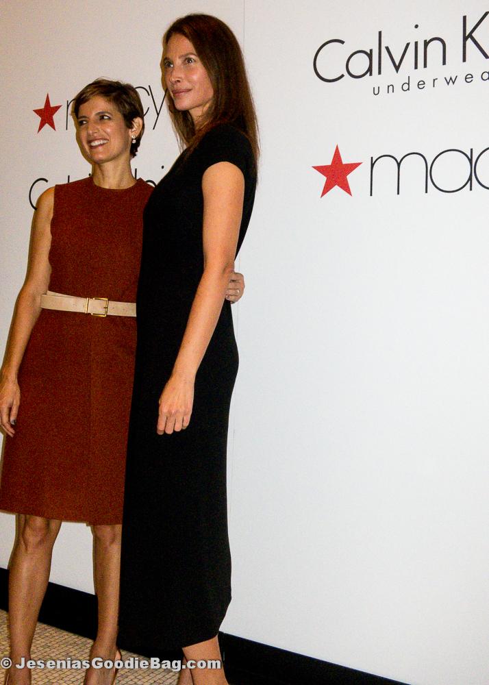 Christy Turlington (model) with Cindi Leive (Glamour Magazine)