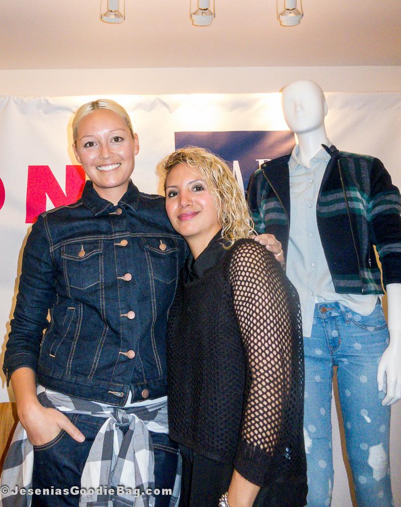 Rachael Wang (Style.com) with Jesenia (JGB Editor)