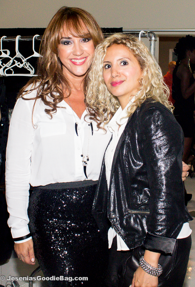 (Backstage) Designer Rosita Hurtado with Jesenia (JGB Editor)