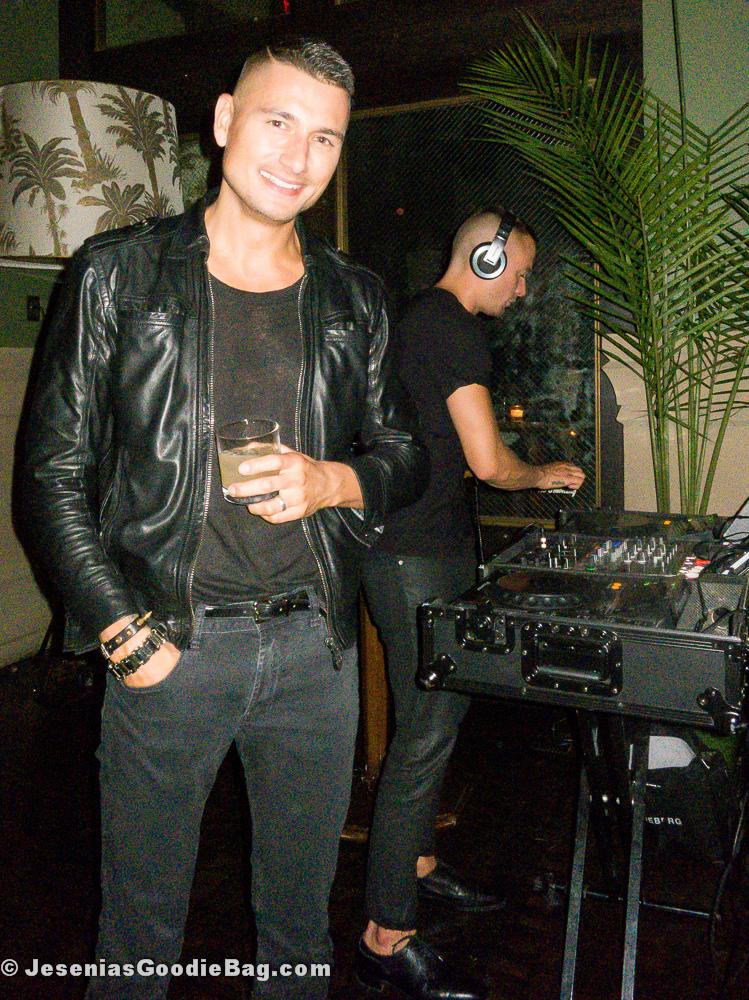 Jessy Heuvelink (J. Lindeberg) with DJ Marcus Ullmarker (Soho Grand Hotel)