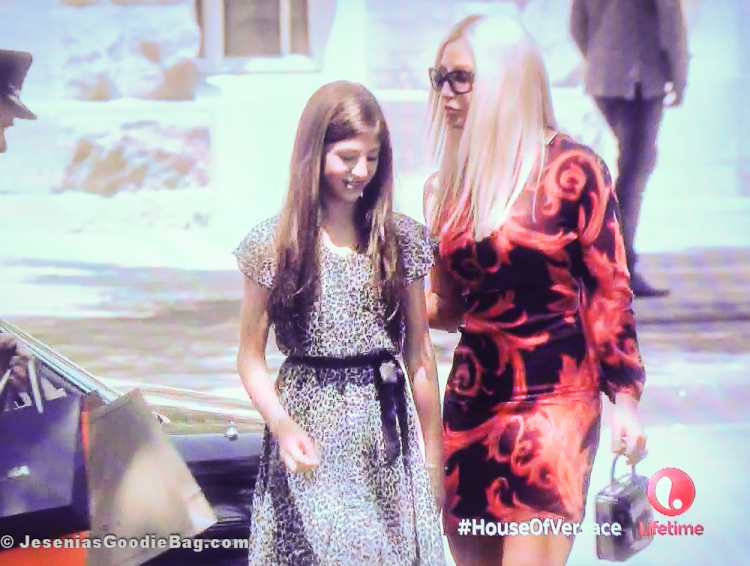 Madison McAleer (Allegra Beck Versace) with Gina Gershon (Donatella Versace)