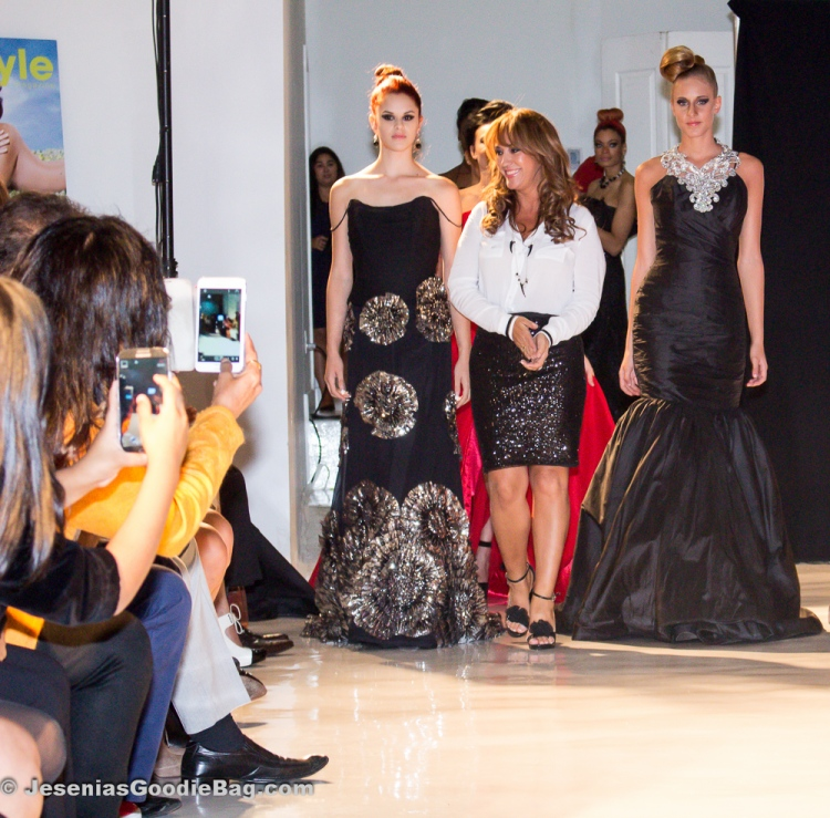 Designer Rosita Hurtado and her models