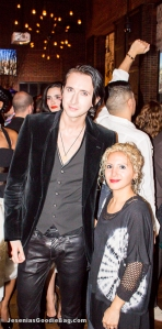 Dmitry Sholokhov (Project Runway: Season 10) with Jesenia (JBG Editor)