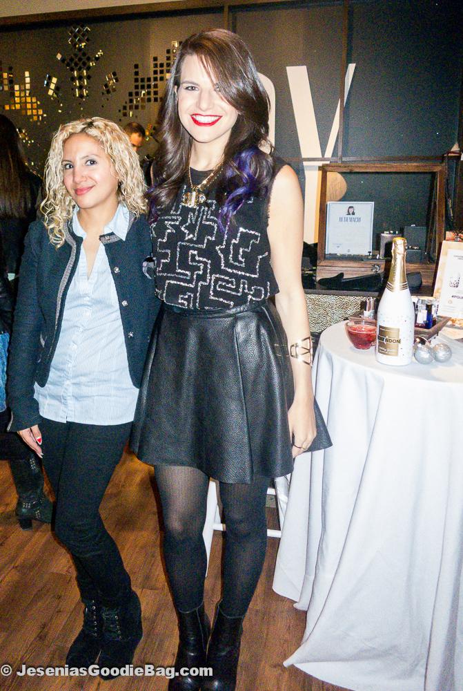 Jesenia (JGB Editor) with Taryn Multack (Miss Ladyfinger)