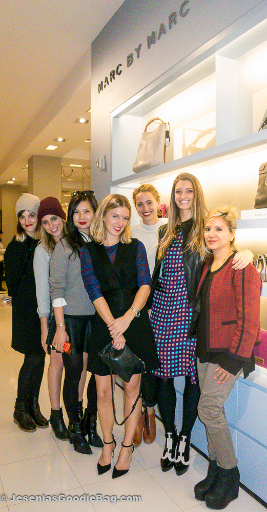 Jayna Maleri, Jenna Gottlieb, Melissa Lum, MMJ PR Girl, Laurel Pantin, Noelle Sciacca, and Jesenia (JGB Editor)