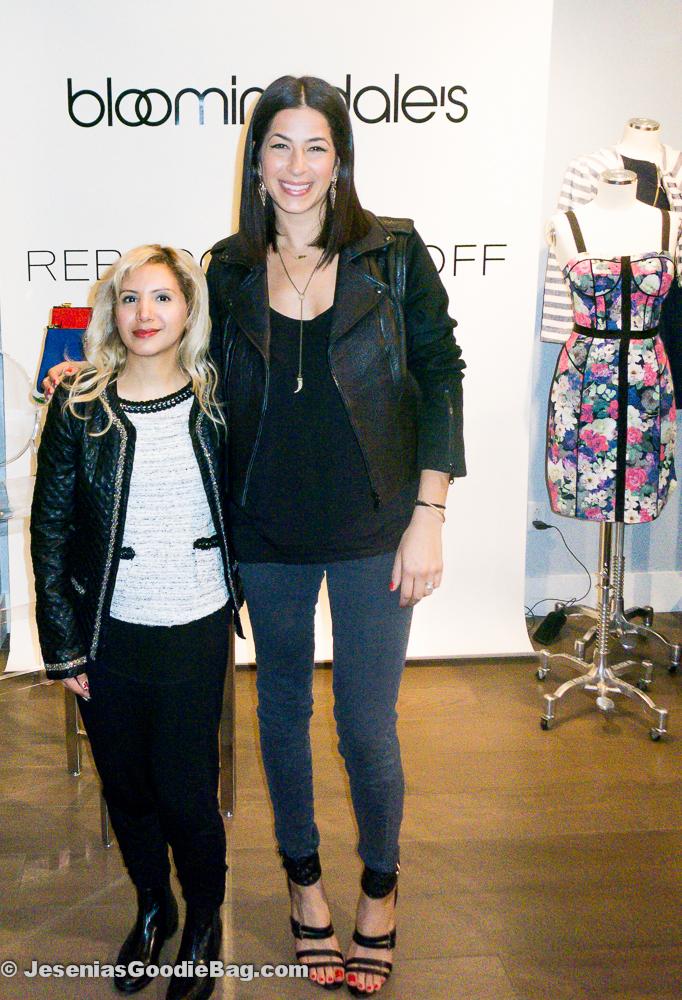 Jesenia (JGB Editor) with Rebecca Minkoff (Designer)