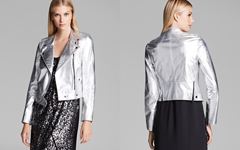 DKNY - Cropped Asymmetric Moto Jacket