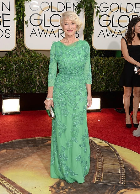 Helen Mirren (Jenny Packham: Cruise SS 2014)