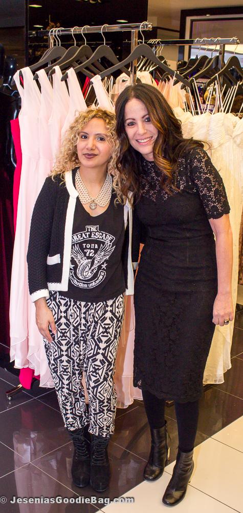 Jesenia (JGB Editor) with Jill Stuart (Designer)
