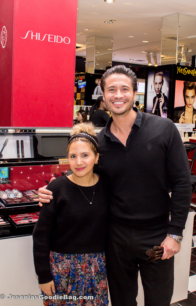 Jesenia (JGB Editor) with Edward Cruz (Shiseido)