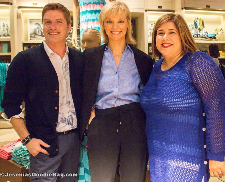 Dominic Sabella (Tommy Bahama), Avril Graham (Harper's Bazaar), Lissette Marquez (Tommy Bahama)
