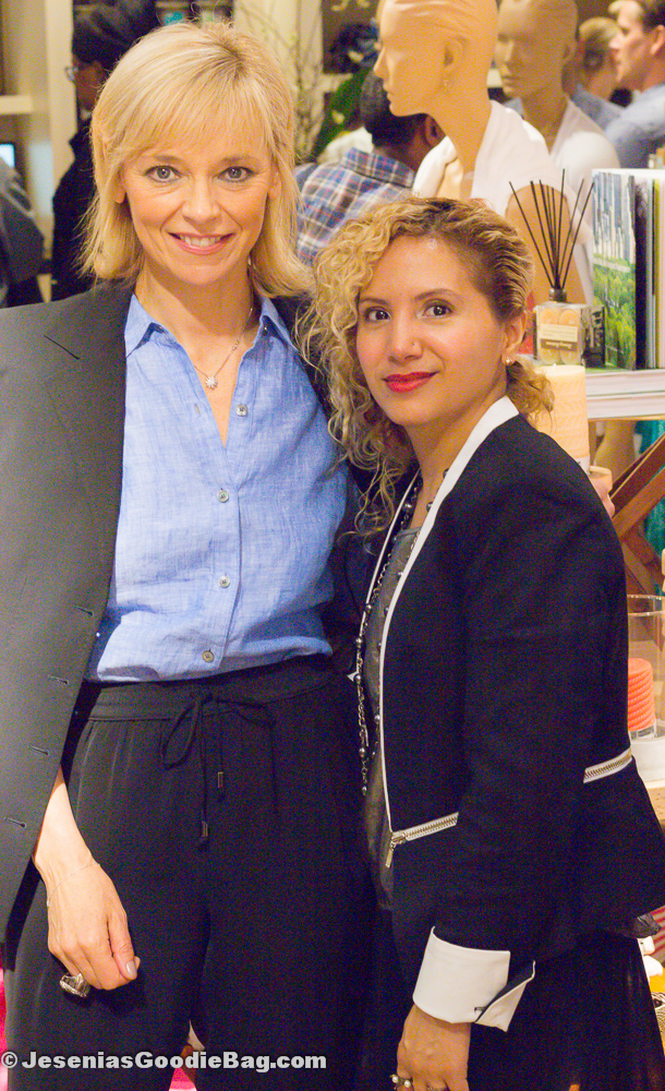 Avril Graham (Harper's Bazaar) with Jesenia (JGB Editor)