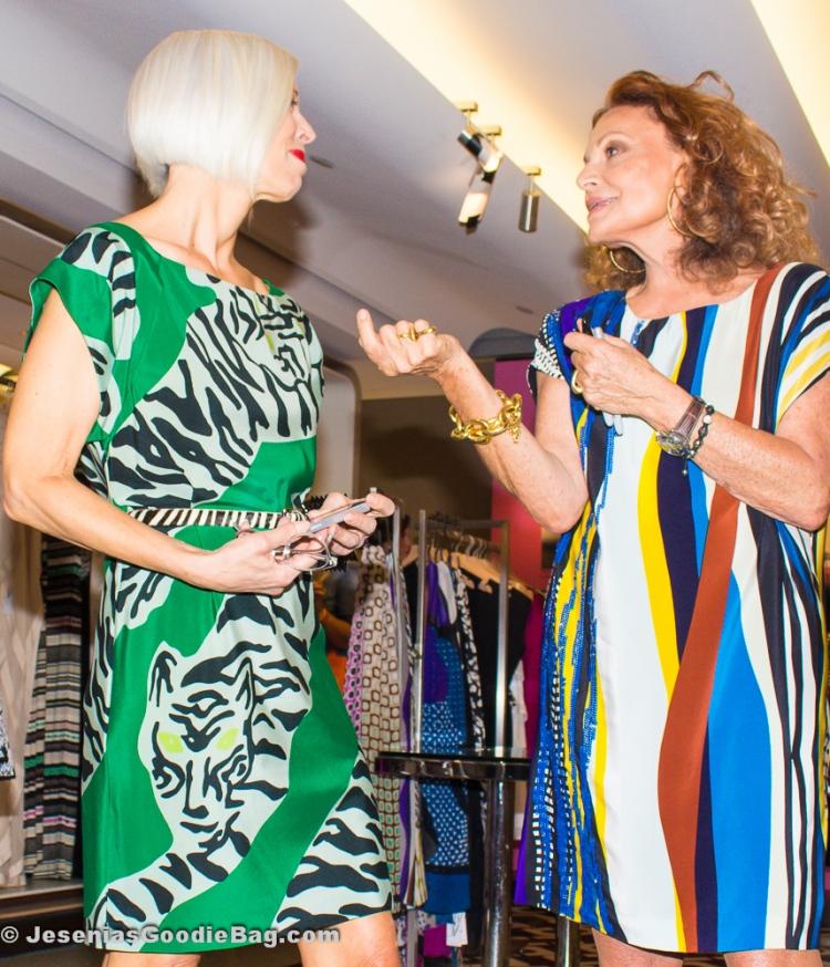 Linda Fargo (Bergdorf Goodman) with Diane Von Furstenberg