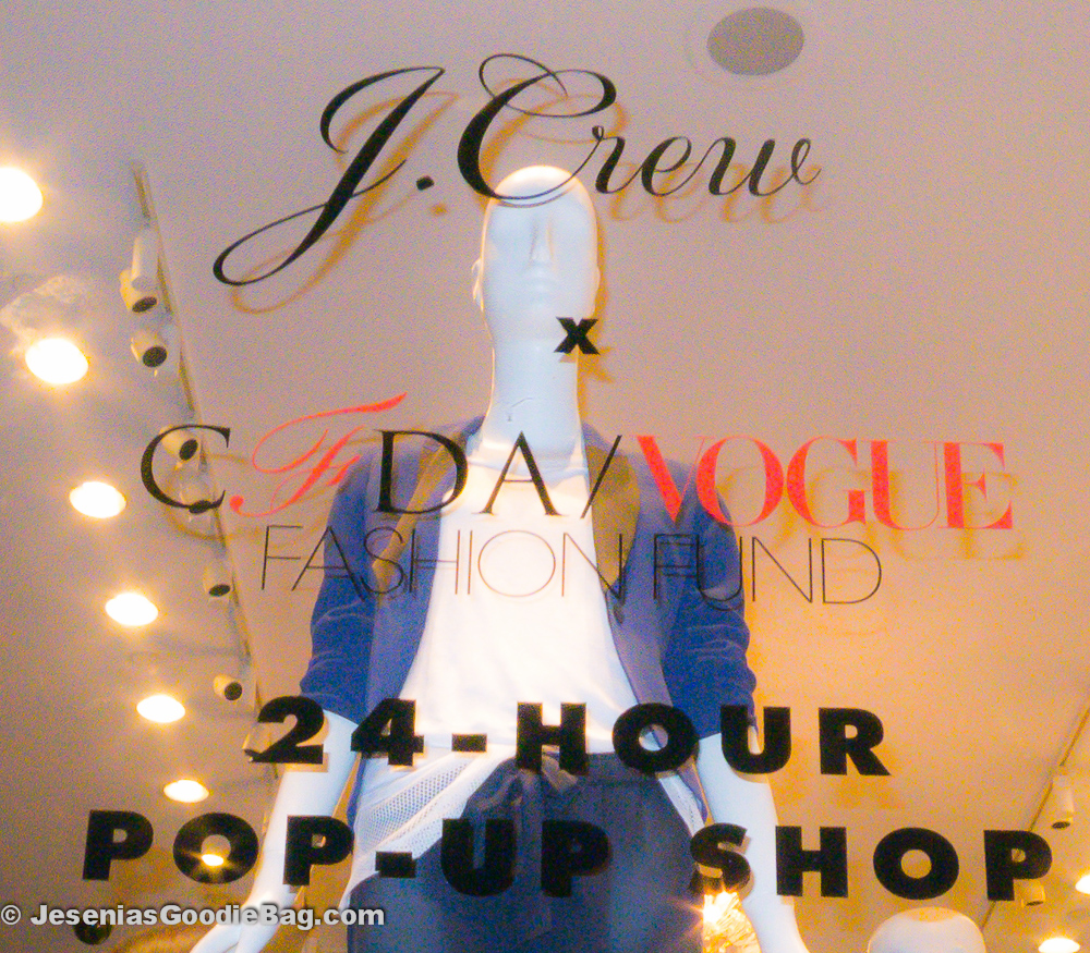J.Crew + CFDA/VOGUE Fashion Fund: 24-Hour Pop-Up Shop