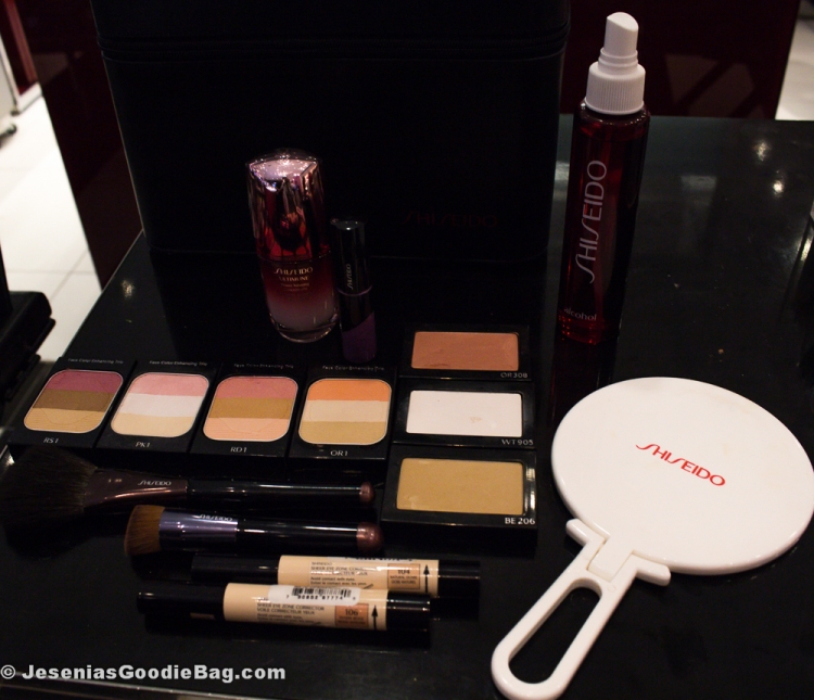 Shiseido: Ultimune – Power Infusing Concentrate, Face Color Enhancing Trio (Complete Collection), Sheer Eye Zone Corrector (Natural Ochre, Warm Beige), Luminizing Satin Face Color (Star Fish, High Beam White, Soft Beam Gold)