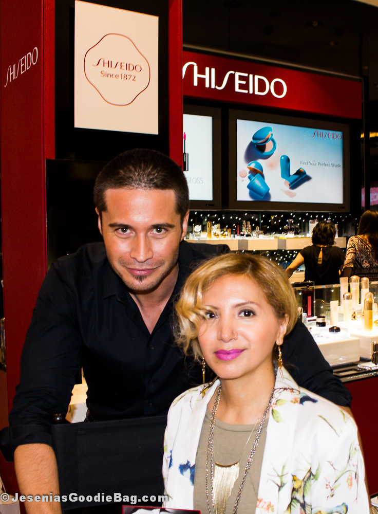 Edward Cruz (Shiseido) with Jesenia (JGB Editor)