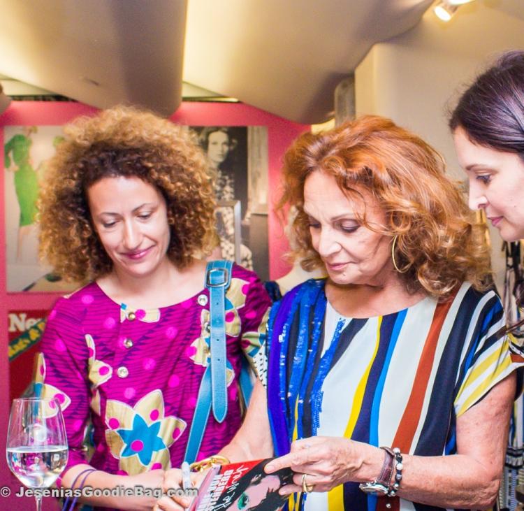 Diane Von Furstenberg book-signing