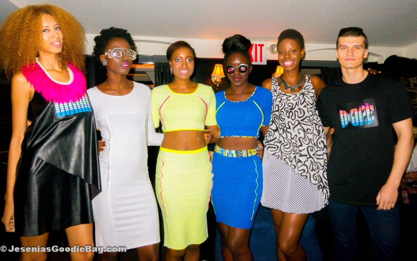 Ceres with her models (Black Label Collection - Spring 2015)