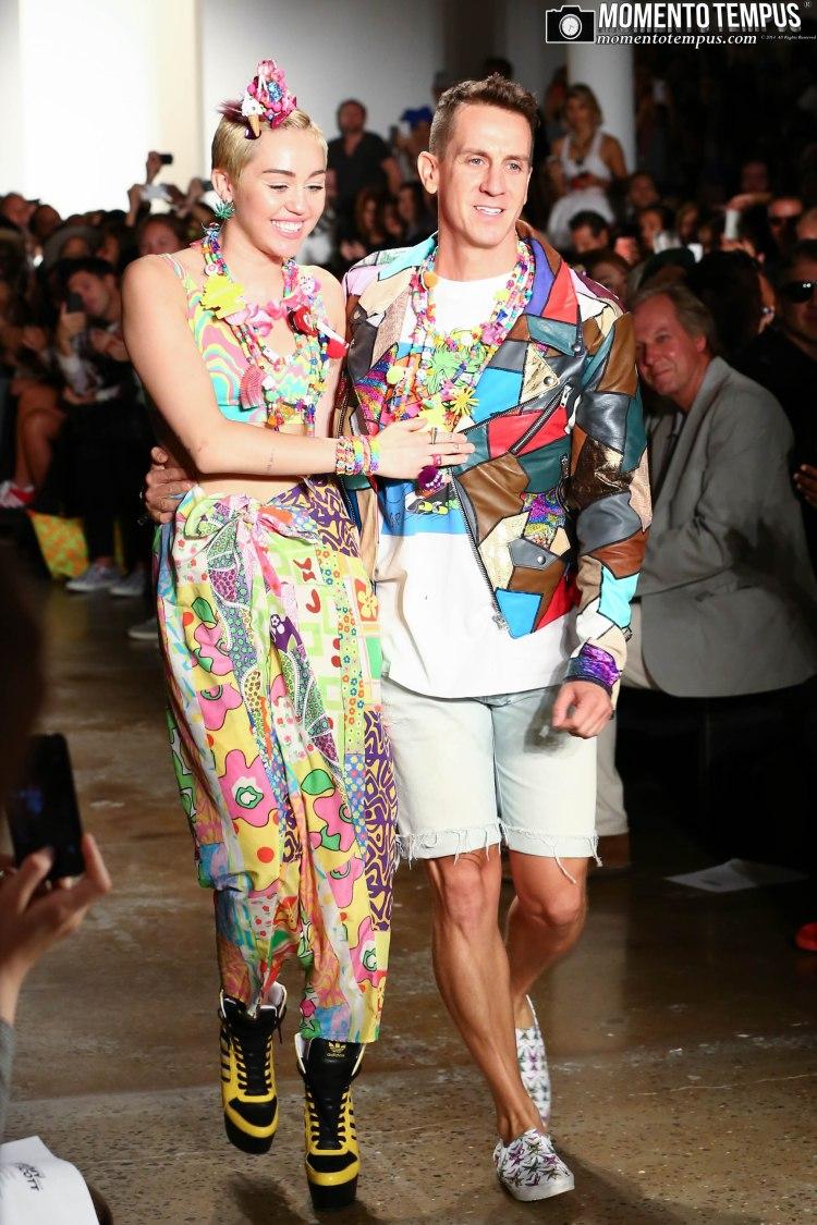Miley Cyrus with Jeremy Scott